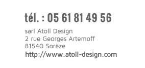 site Internet Atoll Design contact 0561814956